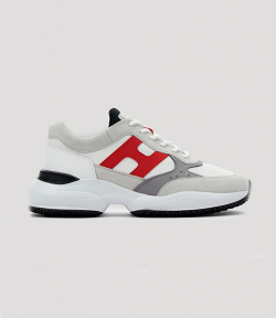 Interaction Allaciato Red H White Grey Men Sneaker