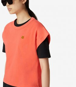 Tiger Crest Boxy Coral T-Shirt