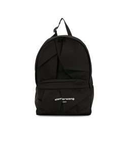 Wangsport Black Twill Nylon Backpack
