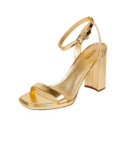 Angela Ankle Strap Gold Leather Sandal