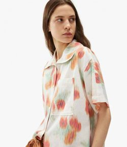 Coquelicot Orange Boxy Shirt