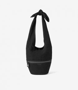 Fordable Large Black Bucket Bag