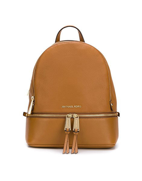 7836fc3e61ba5 MICHAEL MICHAEL KORS RHEA ZIP LEATHER ACORN BACKPACK - calceispennatis.com