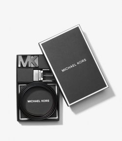 MICHAEL MICHAEL KORS 4 IN 1 BELT BOX SET BLACK/MOCHA