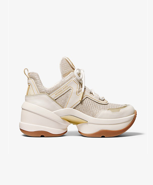 MICHAEL MICHAEL KORS OLYMPIA TRAINER PALE GOLD