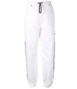 ALEXANDER WANG TRACK PANT OPTIC WHITE