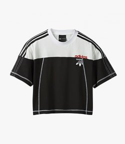 ADIDAS x ALEXANDER WANG BLACK/WHITE CROP TOP