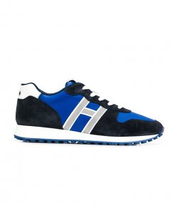 HOGAN H429 MENS  WHITE H ROYAL BLUE-NAVY SNEAKERS