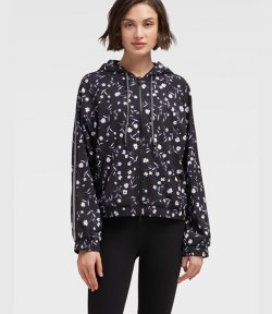 DKNY FULLZIP SHADOW FLOWER SWEATSHIRT
