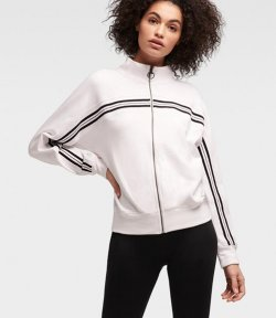 DKNY FULL ZIP LOGO SWEATSHIRT
