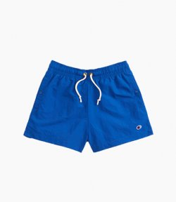 CHAMPION HIGH WAIST POPPER POCKET BLUE SHORTS