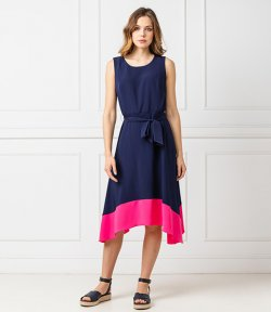 DKNY S/L HANDKERCHIEF DRESS