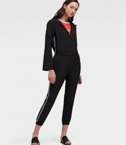 DKNY BLACK ROLL JUMPSUIT