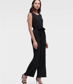 DKNY BLACK WHITE STRIPES JUMPSUIT