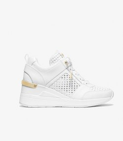 MICHAEL MICHAEL KORS GEARGIE TRAINER OPTIC WHITE