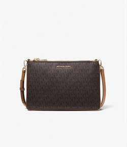 MICHAEL MICHAEL KORS LARGE DOUBLE POUCH CROSSBODY