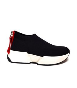 DKNY MARCEL SNEAKER BLACK WITH RED DETAILS