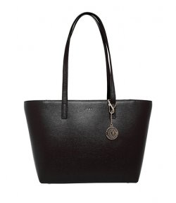 DKNY BRYANT BLACK LEATHER MEDIUM TOTE BAG