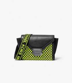 MICHAEL MICHAEL KORS XS BELT BAG  XBODY BLACK/NEON YELLOW