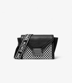 MICHAEL MICHAEL KORS XS BELT BAG XBODY  BLK/OPTICWHITE