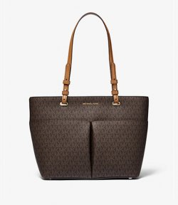 MICHAEL MICHAEL KORS BEDFORD MEDIUM LOGO POCKET TOTE