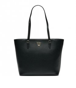 DKNY LARGE WHITNEY BLACK LEATHER TOTE
