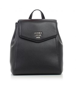 DKNY BLACK LEATHER BACKPACK