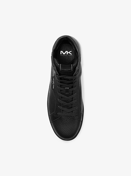 MICHAEL MICHAEL KORS KEATING HIGH TOP BLACK LEATHER