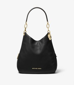 MICHAEL MICHAEL KORS LILLIE LARGE PEBBLED LEATHER SHOULDER BAG