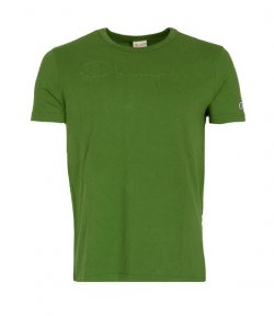 CHAMPION GREEN CREWNECK T-SHIRT