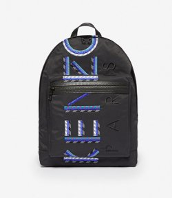 KENZO BLACK LARGE LOGO BACKPACK