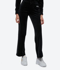 FILA BLACK VELOUR SPORT PANTS