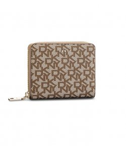 DKNY BRYANT SMALL ZIP AROUND LOGO WALLET