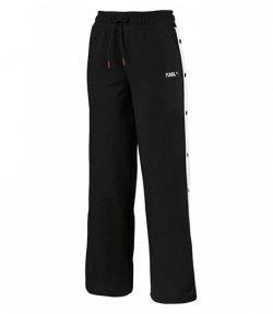 PUMA x KARL LAGERFELD BLACK WIDE PANTS