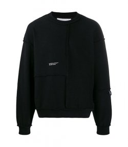 HELIOT EMIL DECONSTRUCTED CREWNECK w.EMBROIDERY