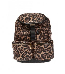 MICHAEL MICHAEL KORS PERRY LARGE ANIMAL PRINT FLAP BACKPACK