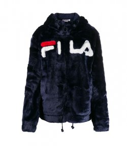 FILA NAVY LOGO FUR JACKET