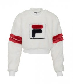 FILA CRISTABEL WHITE CROP SWEATER