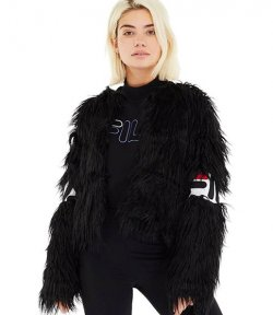 FILA BLACK FUR JACKET