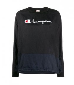 CHAMPION BLACK CREWNECK SWEATSHIRT