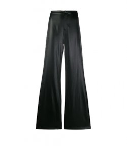 ALEXANDER WANG WET SHINE WASH & CO BLACK PANTS