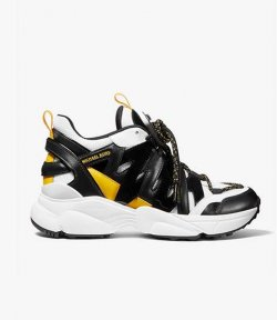 MICHAEL MICHAEL KORS HERO BLACK/OPTIC WHITE TRAINER