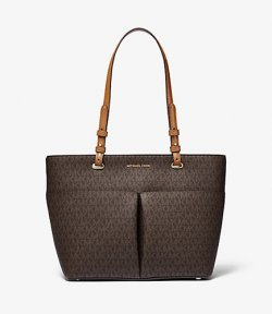 MICHAEL MICHAEL KORS MEDIUM TZ POCKET TOTE BROWN/ACORN