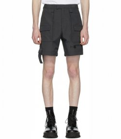 HELIOT EMIL LAYERED GREY SHORTS