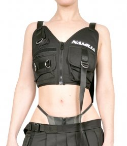 NAMILIA TACTICAL VEST TOP BLACK