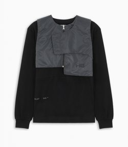 HELIOT EMIL LONG SLEEVE W.ZIPPED VEST