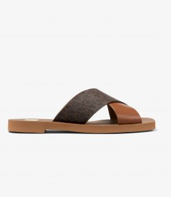 MICHAEL MICHAEL KORS GLENDA LEATHER SANDAL