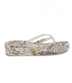 DKNY JAZZI GRAPHITY CLEAR THONG SANDAL