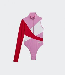 ADIDAS X LOTTA VOLKOVA PINK/RED/WHITE SWIMWEAR ONE SLEEVE SWIM