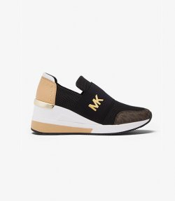 MICHAEL KORS FELIX TRAINER SMALL CIRCULAR AIR MESH